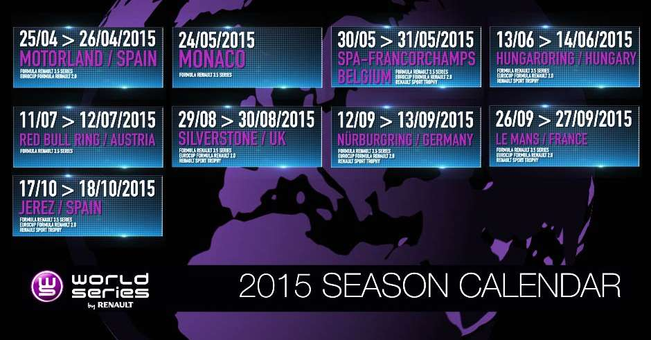 Calendrier World Series 2015